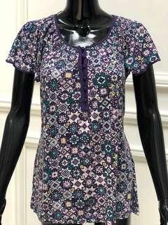 Purpleish pattern Top