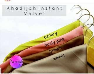 BN instant bawal hijab matte satin with charms dusty pink