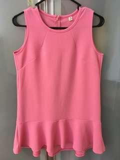 🚚 Pink Sleeveless Dress (stretchable material)