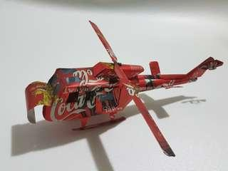 Helicopter make by coca cola tin
