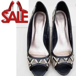 M&S collection peep toe heels