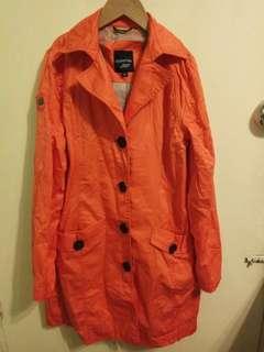 橙色中長干濕褛