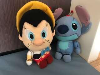 Stitch & Pinocchio Disney toys