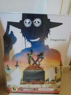 一番賞 one piece 海賊王 膠 透明 海報 poster 艾斯 ace