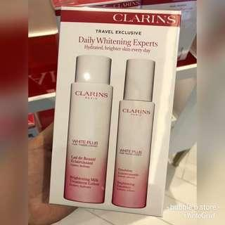 Clarins white plus box set   < lotion 200ml + emulsion 75ml>