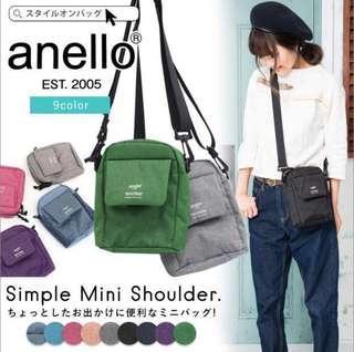 🚚 日本Anello 隨身包/貼身包/斜背包/側背包/小包包 出國必備、男女適用 灰色