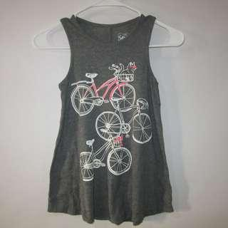 (10-12YO) Justice girl tank with nice glittered print in almost looks new conditions