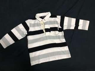 Comme ca ism polo shirt 小童長袖衫