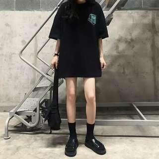[PO] Oversized Black and White Faces Shirt