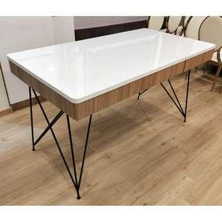 Designer Table with laminate finish with FREE 4 golden chair