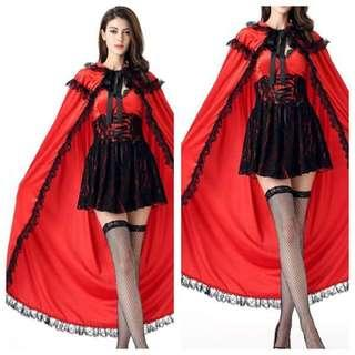 IN STOCK Red riding hood costume dress storybook character dress vampire costume Dracula costume Halloween costume Dnd costume party cosplay