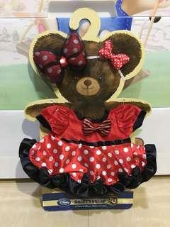 Disney Unibearsity 大學熊Minnie米妮 S size 公仔衫