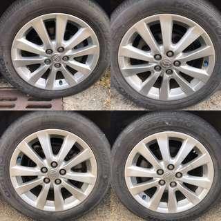 Toyota 16吋原廠輪圈 適用Altis/wish(含胎皮)5孔100