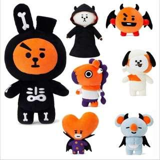 BTS BT21 Unofficial Halloween Special Standing Doll / Plush / Plushie