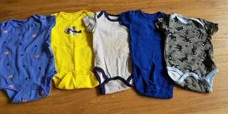 Carters rompers 0-3mths Set B