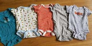 Carters rompers 0-3mths Set C