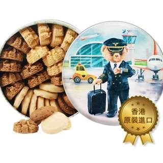《現貨》香港Jenny Bakery 珍妮曲奇 小熊 4味(大)640g