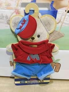 Disney Unibearsity 大學熊 Max 公仔衫(S size)