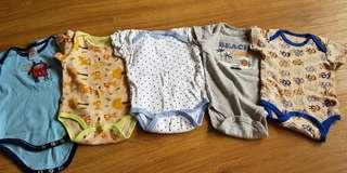 Carters 0-3mth rompers Set D
