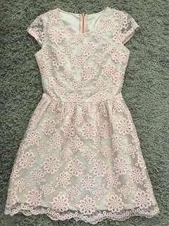 Peach petit dress