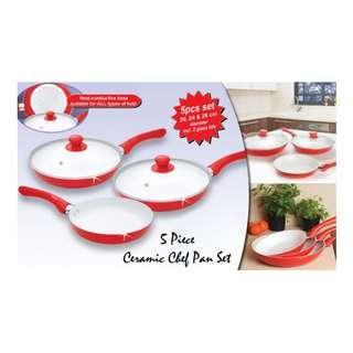 Panci Keramik Set Dessini 5 pc Panci Cookware Dessini Ceramic Anti Lengket Dan Berkualitas Bagus