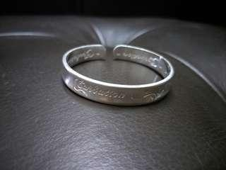 999 Silver Rose Open Ended Bangle 千足银玫瑰手环 #OCT10