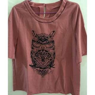 Blouse Owl Pink