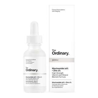 THE ORDINARY NIACINAMIDE 10% + ZINC 1% HIGH STRENGTH VITAMIN AND MINERAL BLEMISH FORMULA 30ML