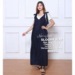 Outer / sloopy dress ikat