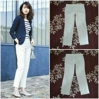 UNIQLO Dry Stretch Cropped Pants (White JP 64)