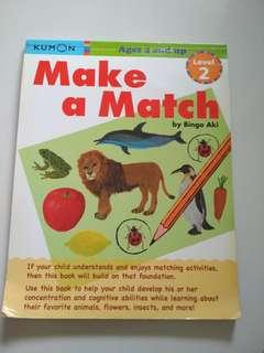 Kumon Early Childhood Picture Recognition Matching Book