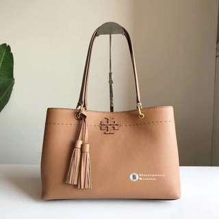 Tory Burch McGraw Triple Compartment Tote - brown