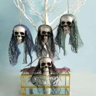🚚 Haloween DIY Artificial Hanging Foam Skull Bride #Clothes #Decoration #Bone Head