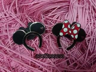 迪士尼Disney Pins~~頭飾Mickey & Minnie -對$55