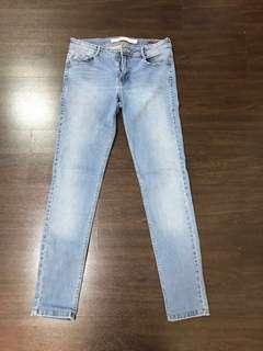Zara Skinny Jeans in Blue