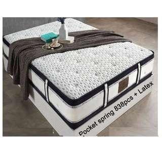 Pocket Spring with Latex Bed Mattress Import from Korea