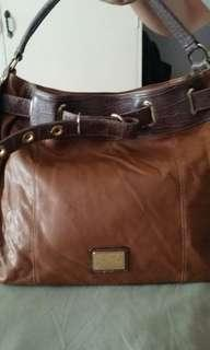 Anne Klein leather hobo bag