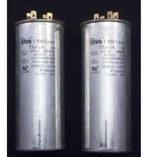Capacitor 55uf / Freezer / Air Conditioning / Cold Storage / Refrigerator / Air Compressor / Floor Grinding Machines / Pumps / Dryer