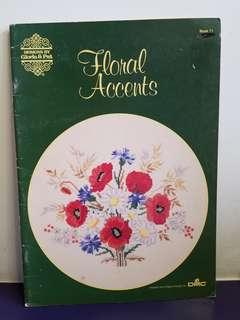 Cross Stitch Chart Book☆Floral Accents