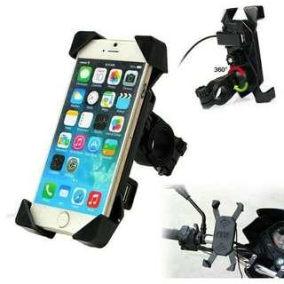 Universal Bicycle Phone Holder Stand Motorcycle Bike Scooter Handlebar Mount Smartphone