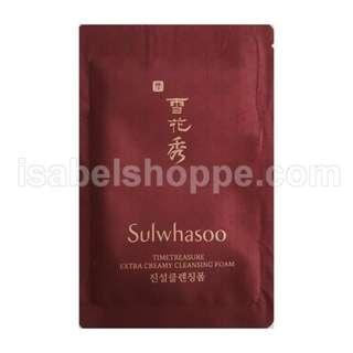 FREE SHIPPING 1PC SULWHASOO TIME TREASURE EXTRA CREAMY CLEANSING FOAM SACHET