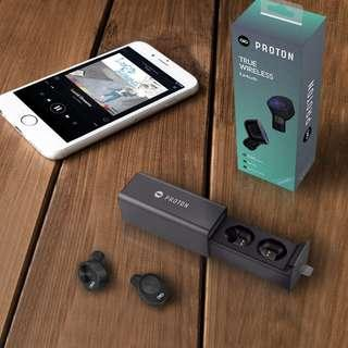 "Proton wireless earphones ""Great Bass Smooth sounds"" With charging dock"