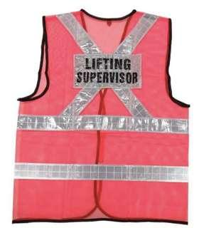 Safety Vest With Designated Words