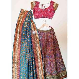Designer Bridal Lehenga OR INDIA WEDDING DRESS (LEHENGA/BLOUSE/DUPATTA)