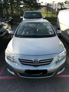 Toyota Altis 1.6L $399 Weekly. Uber | Grab. *Free rental