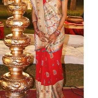 RED PARTY WEAR SAREE FOR ALL OCCASSIONS