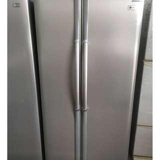 Recond Side by Side LG Fridge Peti Ais recond