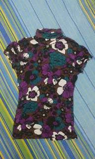 TRN Turtle Neck Top - Violet