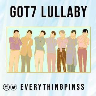 Got7 lullaby enamel pins