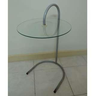 Round Glass Bedside Table